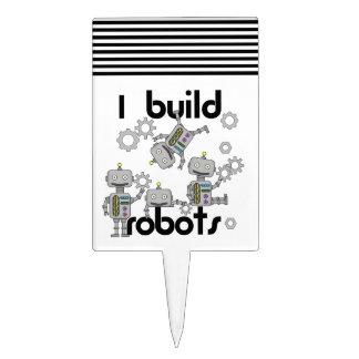 I Build Robots Cake Topper