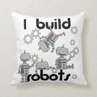 I Build Robots Throw Pillow