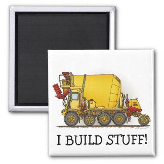I Build Stuff Cement Mixer Truck Magnet