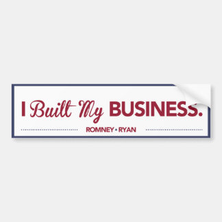 I Built My Business Bumper Sticker Blue Border