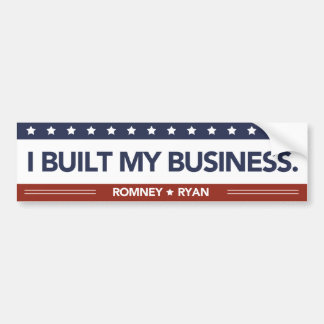 I Built My Business Bumper Sticker Red White Blue