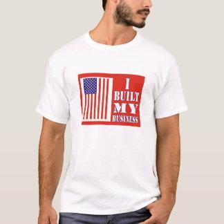 I Built My Business Political US Flag T-Shirt