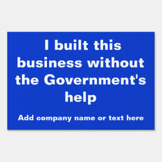 I built this business yard sign