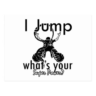 I Bungee Jumping what's your super power Postcard