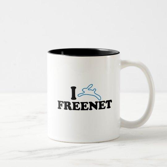 I Bunny Freenet Two-Tone Coffee Mug