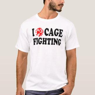 I (C3) Cage Fighting White Tee