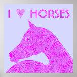I caballo del rosa del extracto de los caballos de
