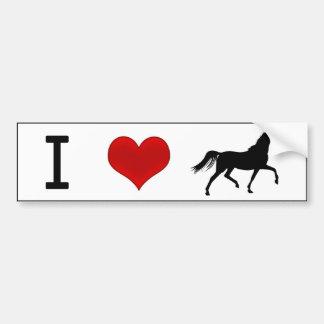 I caballos del corazón pegatina para auto