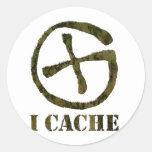 I CACHE sticker