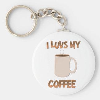I café de Luvs Llavero Redondo Tipo Pin