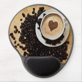 I café del corazón alfombrilla gel