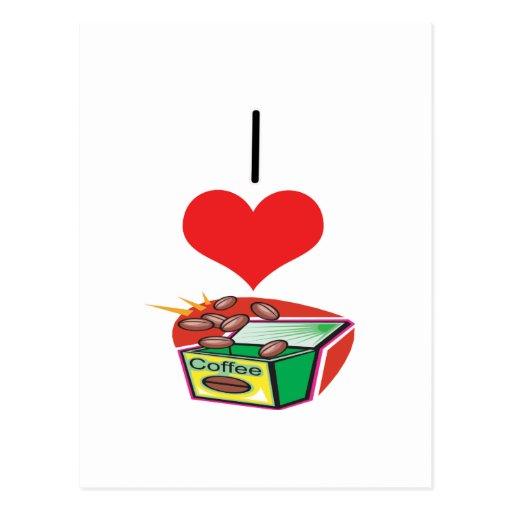 I café del corazón (amor) postal