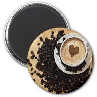 I café del corazón imanes para frigoríficos