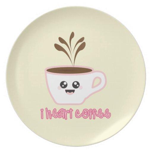 I café del corazón - placa plato para fiesta