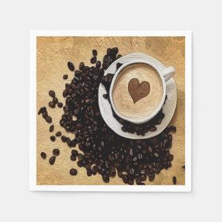 I café del corazón servilleta desechable