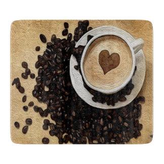 I café del corazón tabla de cortar
