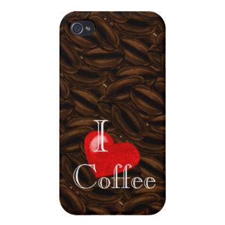I café iPhone4case del corazón iPhone 4/4S Carcasa