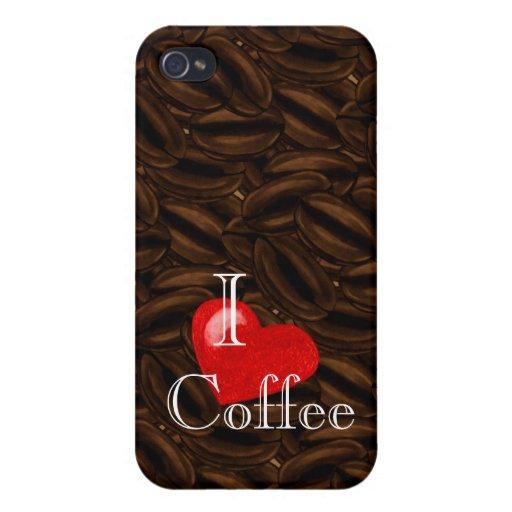 I café iPhone4case del corazón iPhone 4 Fundas