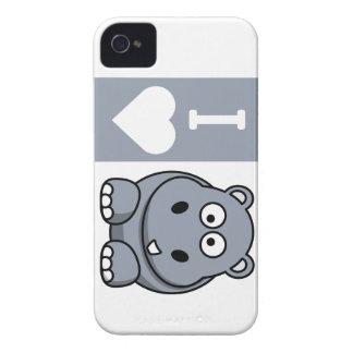 I caja del teléfono de los hipopótamos del corazón Case-Mate iPhone 4 protector