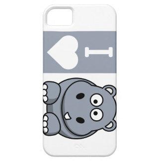 I caja del teléfono de los hipopótamos del corazón iPhone 5 fundas