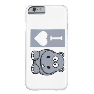 I caja del teléfono de los hipopótamos del corazón funda de iPhone 6 barely there