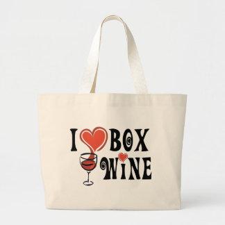 I caja Wine1 del corazón Bolsa Lienzo
