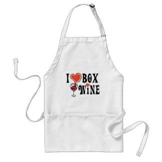 I caja Wine1 del corazón Delantales