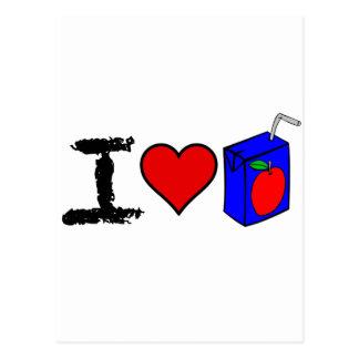 I cajas del jugo del corazón tarjeta postal