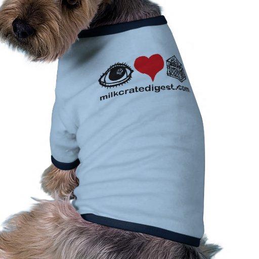 I cajón del corazón camiseta con mangas para perro