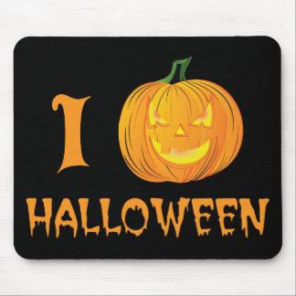 i calabaza Halloween - parodia divertida del coraz Tapetes De Raton