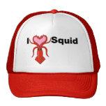 I calamar del corazón gorras de camionero