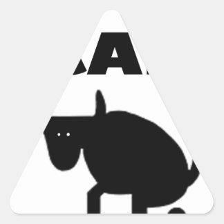 i call it bull strength triangle sticker
