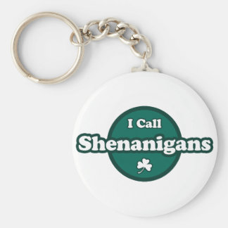 I Call Shenanigans Cute Irish Saying Keychain