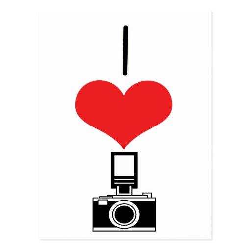 I cámaras del corazón (amor) postal