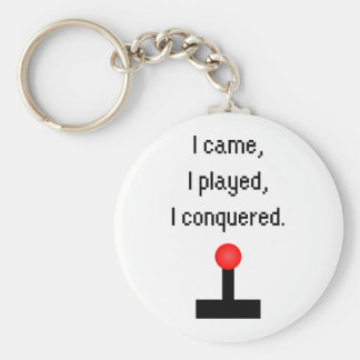 I Came I Played Keychain