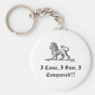 I Came, I Saw, I Conque... Basic Round Button Keychain