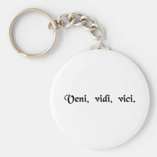 I came, I saw, I conquered. Basic Round Button Keychain
