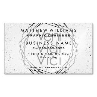 "I Came, I Saw, I Conquered ""Veni, Vidi, Vici"" Magnetic Business Cards (Pack Of 25)"