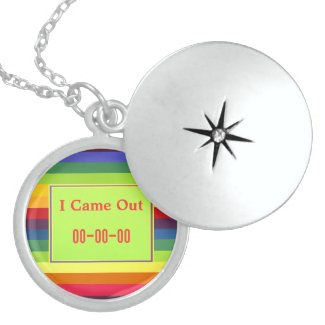 I Came Out Rainbow Colors Custom Necklace