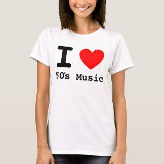 I camisa de la música de los años 50 del corazón