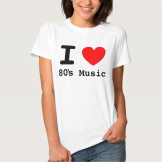 I camisa de la música de los años 80 del corazón