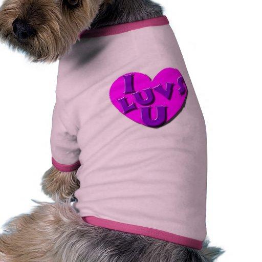 I camisa del mascota de Luvs U Camisetas De Mascota