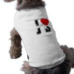 I camisa del perro del corazón JD Ropa Macota