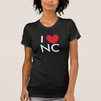 I camiseta de Carolina del Norte del corazón