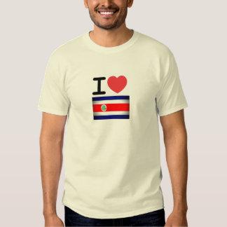 I camiseta de Costa Rica del corazón Remera