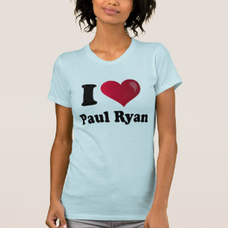 I camiseta de la luz de Paul Ryan del corazón