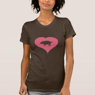 I camiseta de los cerdos del corazón playera