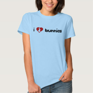 I camiseta de los conejitos del corazón (luz) playeras