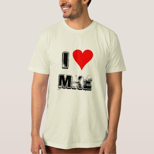 I camiseta de Milwaukee del corazón Playera