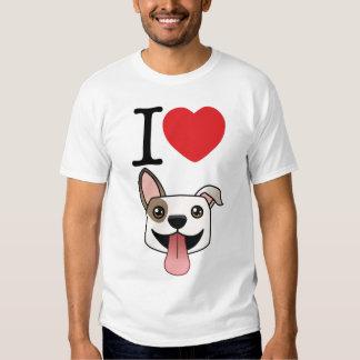 I camiseta de Pitbulls del corazón Poleras